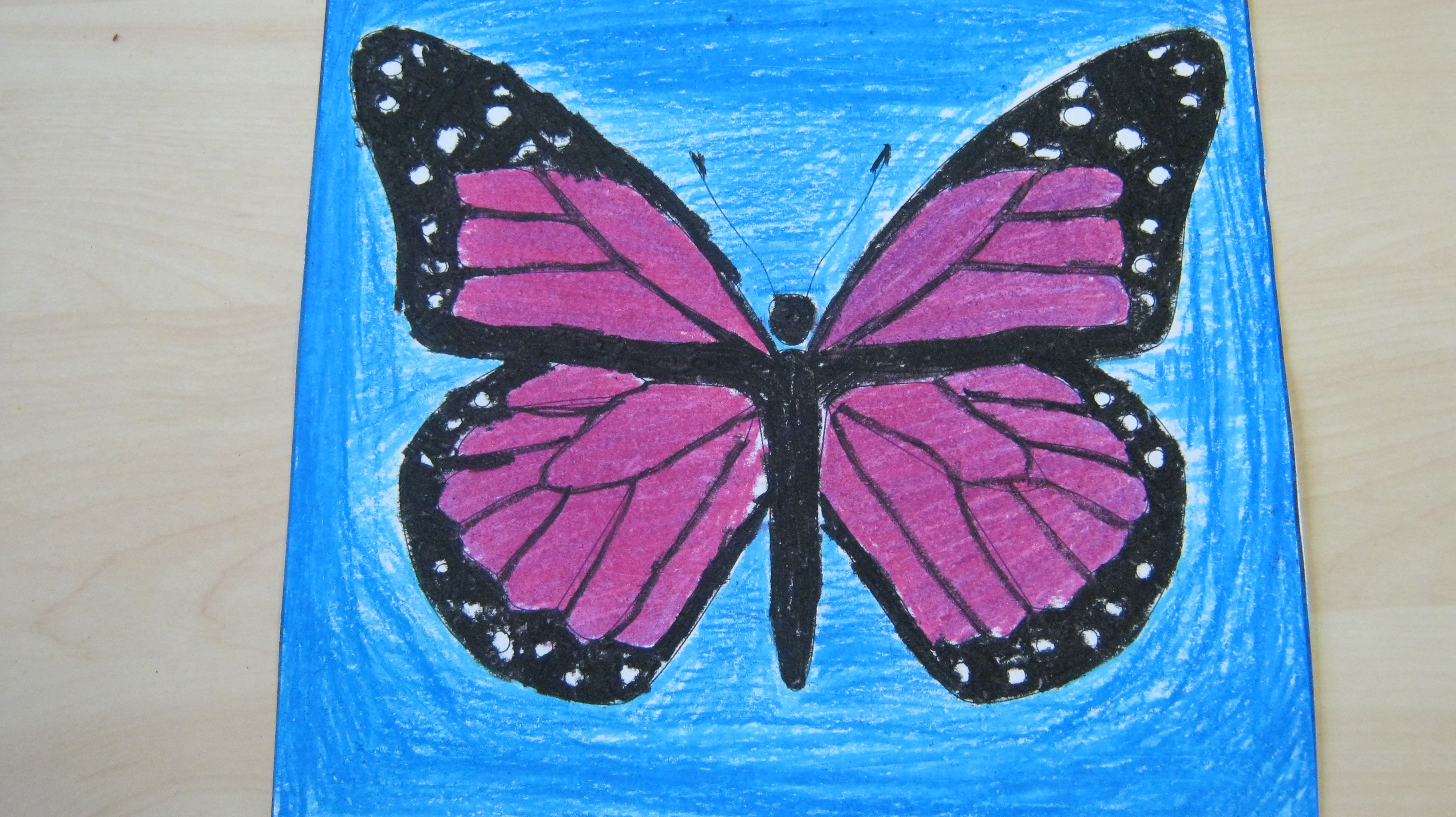 ҉ Oil Pastel Butterfly ҉ | P5A Inshes Blog